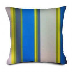 Coussin Rayures azur