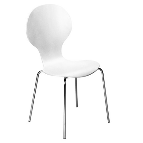 Chaise Keeler finition blanc