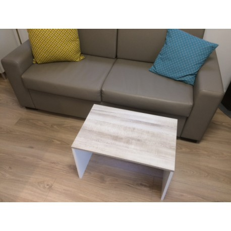 table basse bois blanchi