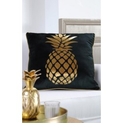 Coussin velours ananas canard