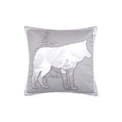 Coussin Velours loup