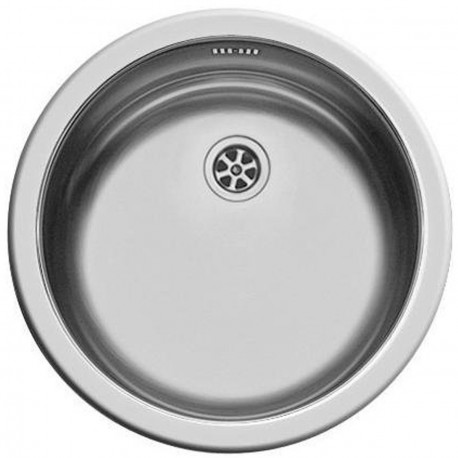 Evier inox rond 450mm x 150mm