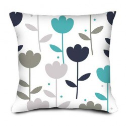 Coussin Tulipes bleues